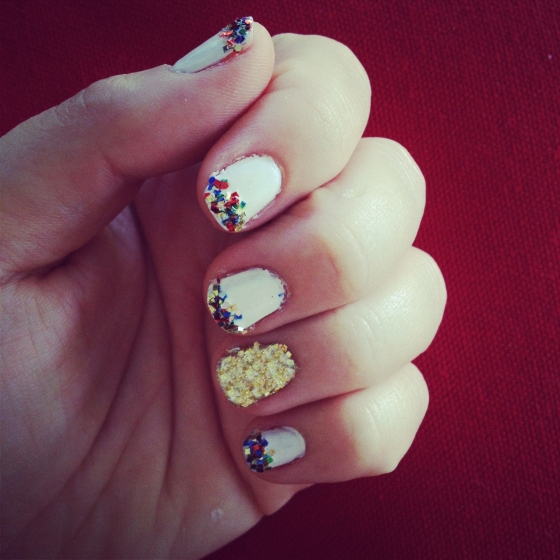 DIY Nail Art: Going for the Gold